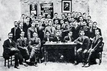 οι σύνεδροι στο 2ο συνέδριο του ΣΕΚΕ το 1920