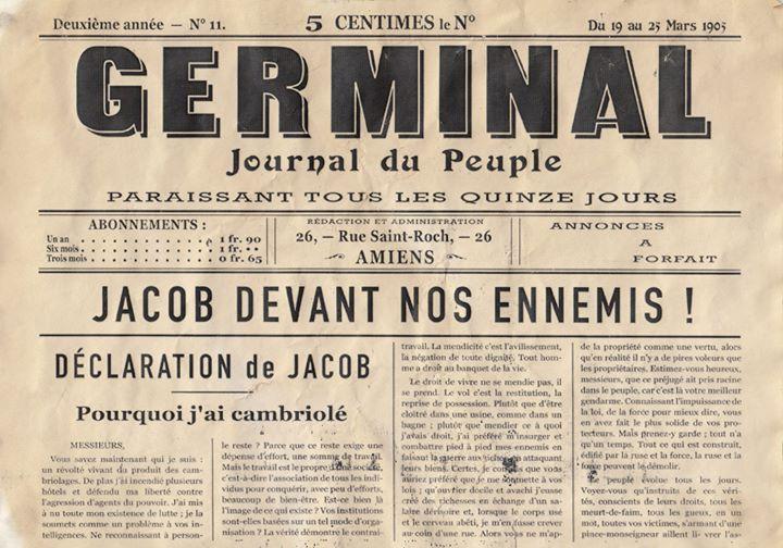 Η απολογία του Ζακόμπ στη Germinal.