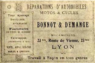 Η κάρτα του Μπονό στη Λυών