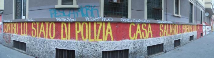 """""""Ενάντια στο αστυνομική κράτος - οικεία, μισθός και σύνταξη για όλους"""""""