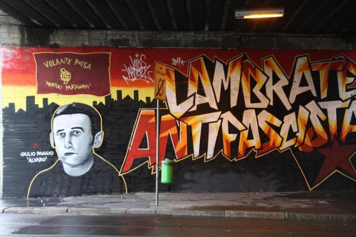 """""""Αντιφασίστας Lambrate"""" """"Volante Rossa - partisan martyrs"""""""
