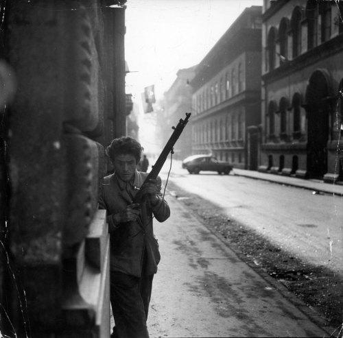 Ούγγρος επαναστάτης μαχητής, Βουδαπέστη, 1956