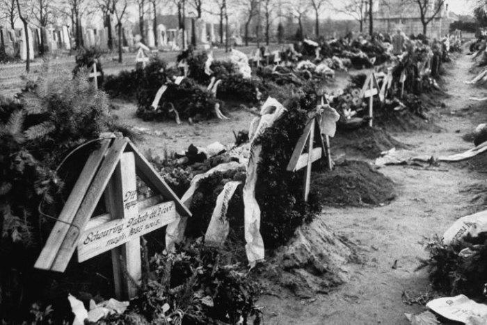 Τάφοι Ούγγρων μαχητών της ελευθερίας βρίσκονται στο ίδιο νεκροταφείο με τους Ρώσους νεκρούς αλλά είναι καλυμμένα με προσφορές από λουλούδια και στεφάνια.