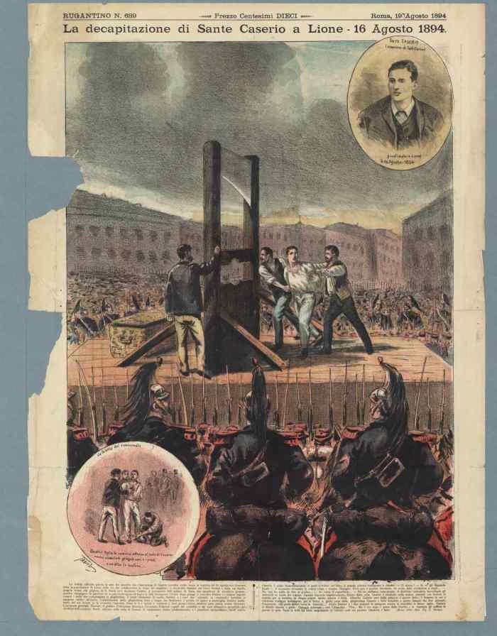 """""""Ο αποκεφαλισμός του Σάντε Καζέριο στη Λυών - 16 Αυγούστου 1894"""""""