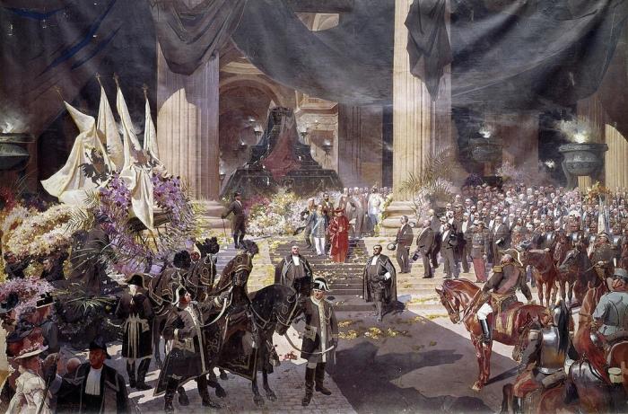 Η κηδεία του κράτους του Προέδρου Sadi Carnot γιορτάζονται Pantheon 1η Ιούλη 1894.Une μνημειακή ζωγραφική του Georges Jules Bertrand (πάνω από 6 m. X 9 m.)