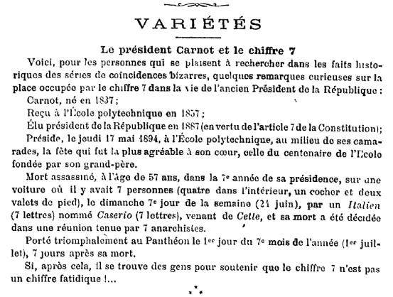 Χιουμοριστική αναφορά στην υπόθεση. Le Journal du Dimanche, 5 Αυγούστου 1894