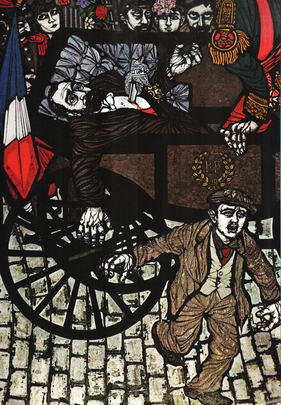 Sante Caserio, έργο του αναρχικού καλλιτέχνη Flavio Constantini