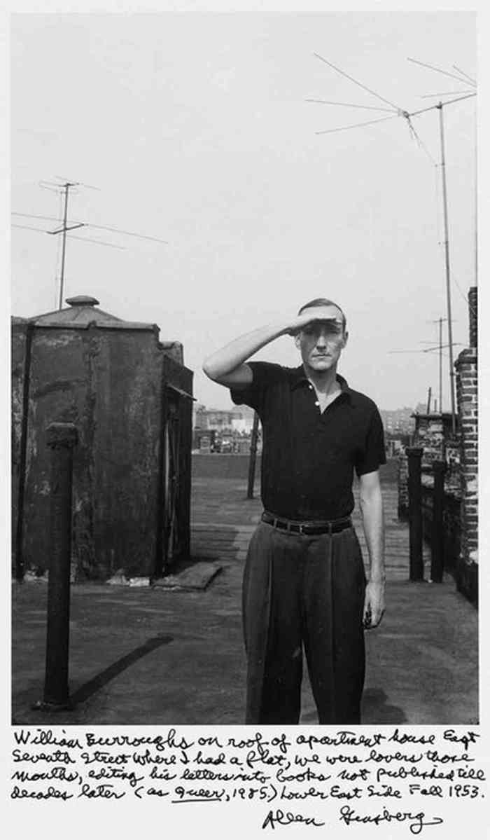 William Burroughs on roof of apartment house East Seventh Street