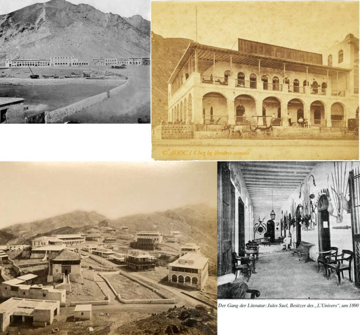 Hotel de l'Univers, Aden.