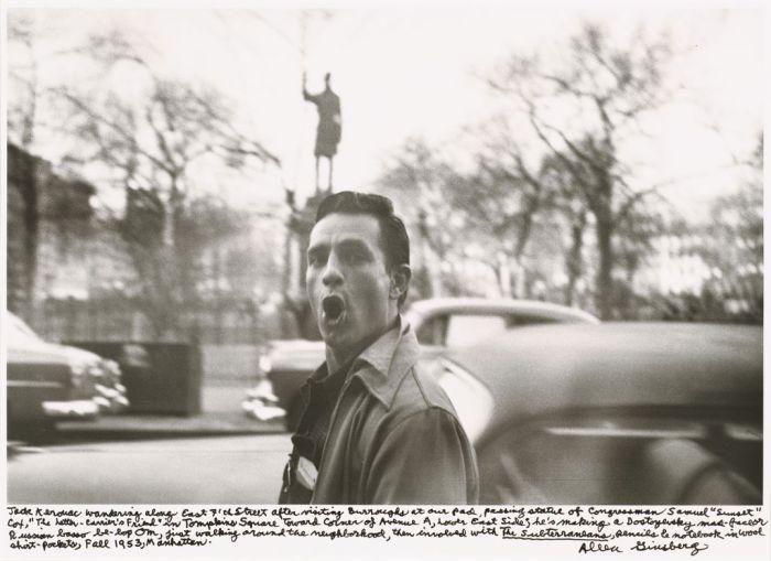 Jack Kerouac wandering along East 7th Street