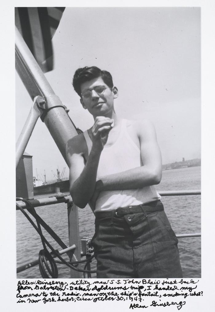 Allen Ginsberg in 1947.