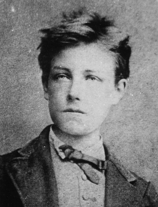 Ο Ρεμπώ σε ηλικία 17 ετών από τον Étienne Carjat, πιθανώς τραβηγμένη το Δεκέμβριο του 1871.