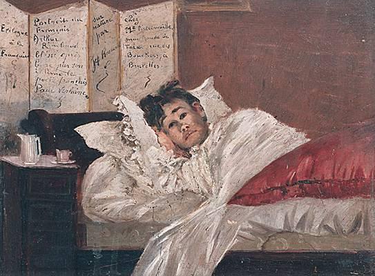 Ο Ρεμπώ αναρρώνει μετά τον τραυματισμό του από τον Βερλαίν, Ιούλιος 1873