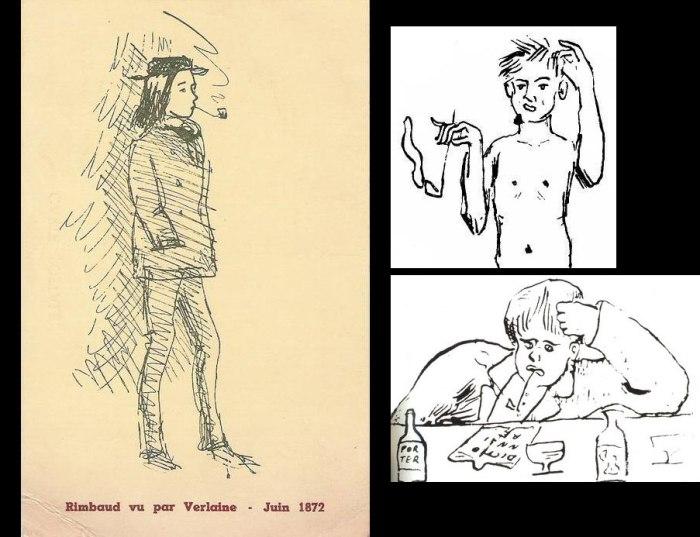 Ο Arthur Rimbaud, σε σκίτσα του Verlaine.