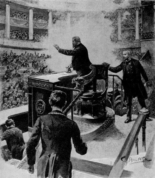 Ανασύσταση της επίθεσης - Εικονογράφηση δημοσιεύθηκε στην Le Petit Parisien.