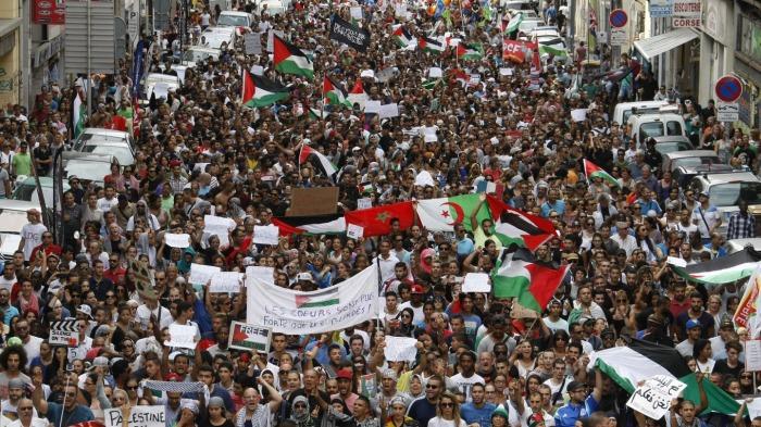 Εκατοντάδες διαδηλωτές στη Μασσαλία σε πορεία συμπαράστασης στην Παλαιστίνη